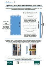 Bowed Door Procedure