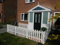 A Porch recently installed for Mid Suffolk District Council with Wheelchair access ramp