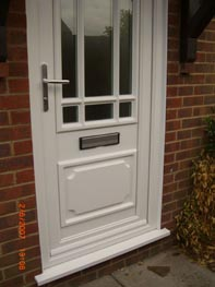 A finished front door