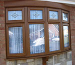 Light Oak Bow Window