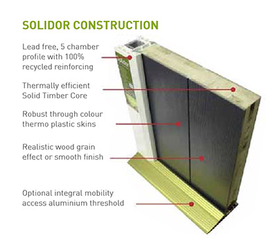 Falcon Solidor doors construction benefits